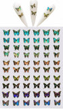 Holographic Colorful Butterflies