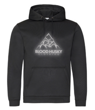 Load image into Gallery viewer, Blood Husky Mountain Black Hoodie (Reflective)