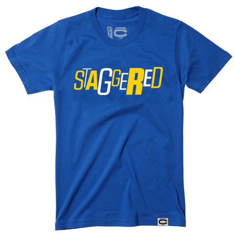 Staggered (Golden State Warriors color-way)