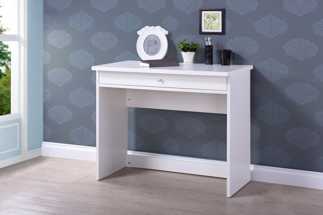 Gina, writing desk White with 1 drawer