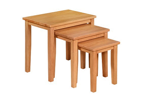 Melissa Nest of tables (3), available in Oak or Grey & Oak