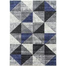 Load image into Gallery viewer, Impulse Triad Rug - Navy, Beige, Purple, Red, Teal, Grey, Yellow