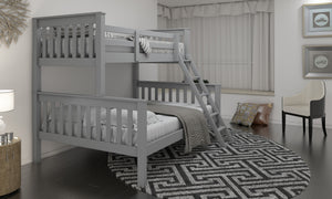 Triple Bunk Bed - White, Grey or Pine