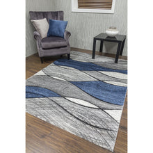 Load image into Gallery viewer, Impulse Waves Rugs - Navy, Beige, Purple, Red, Teal, Grey, Yellow, Pink