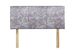Saturn 4'6 Headboard Grey crushed velvet