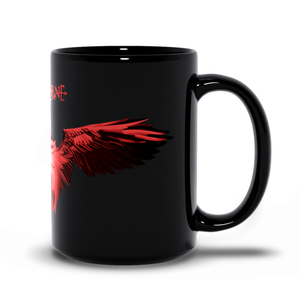 Red Art Black Mug