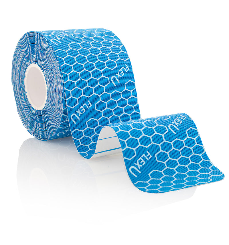 FlexU Kinesiology Tape Bulk Pack Un-Cut, Blue