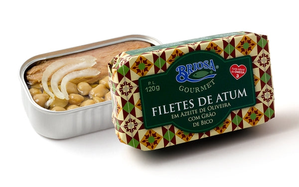 Briosa Gourmet Tuna Fillets in Olive Oil with Chick Peas