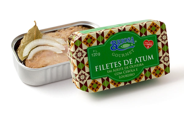 Briosa Gourmet Tuna Fillets in Olive Oil with Onion and Laurel