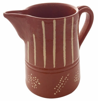 Portugalia Marketplace  6 Inch Striped Clay Pitcher