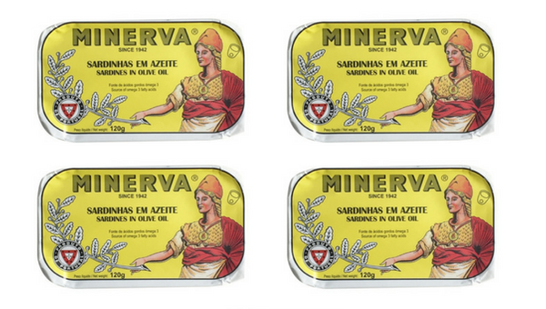 Minerva Sardines in Olive Oil 4 Pack