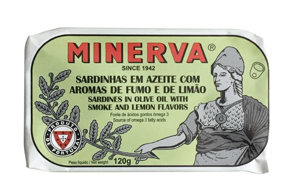 Minerva Sardines in Olive Oil with Smoke and Lemon Flavors