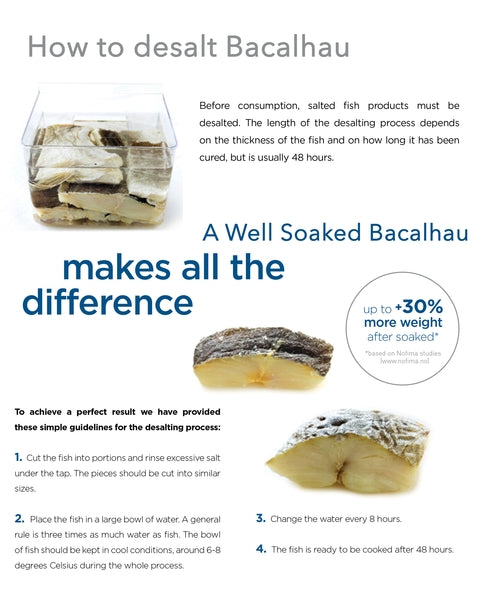 Boneless & Skinless Salted Codfish (Bacalhau)