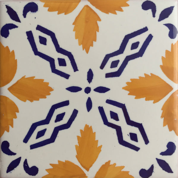 Cerâmica Vieira  Hand-Crafted Tile Yellow X Pattern