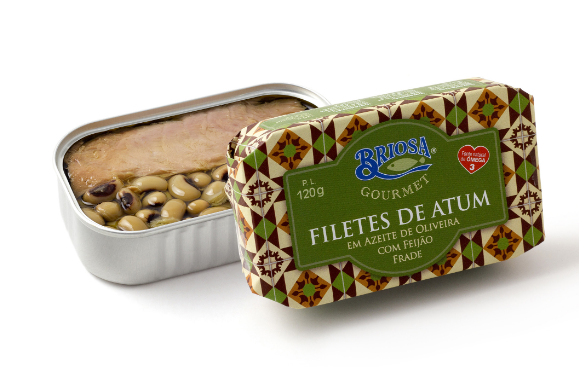 Briosa Gourmet Tuna Fillets in Olive Oil with Black Eyed Peas