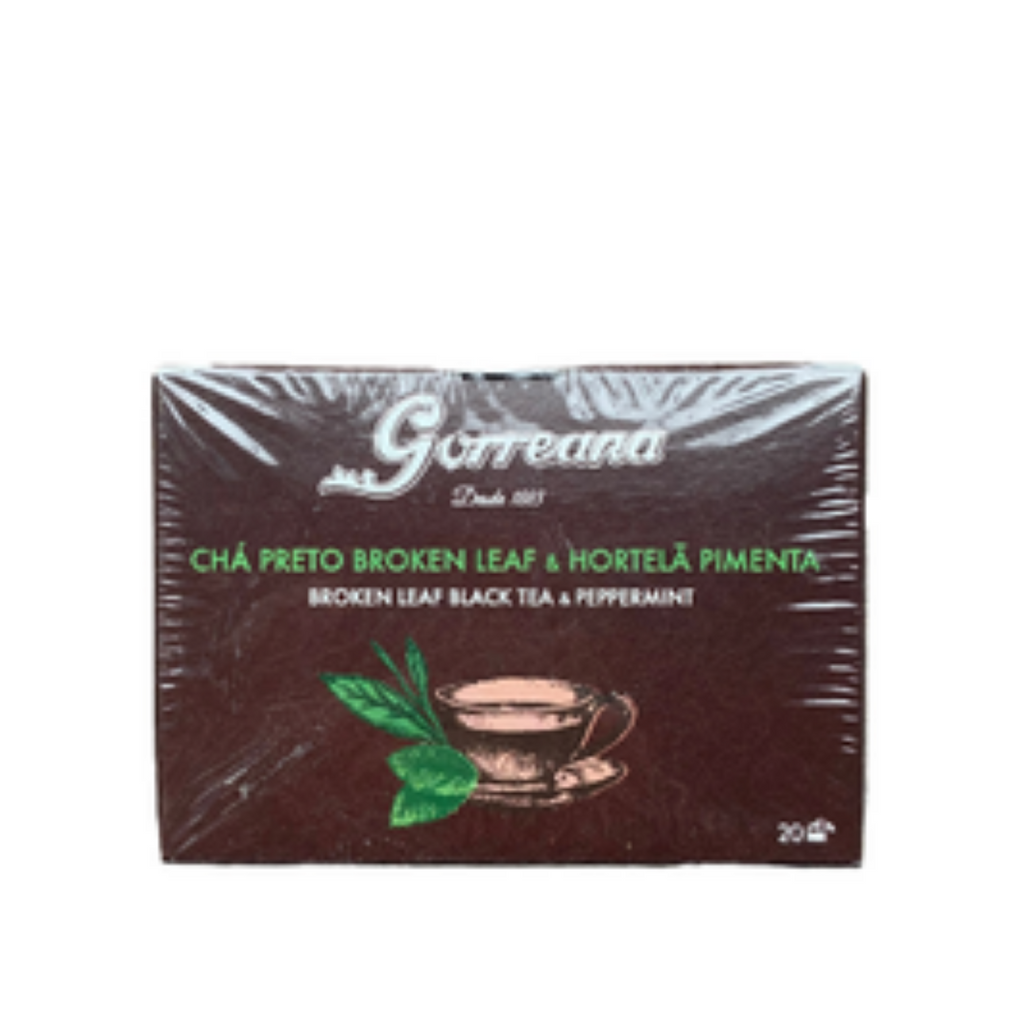 Gorreana  Broken Leaf Black Tea & Peppermint Bags