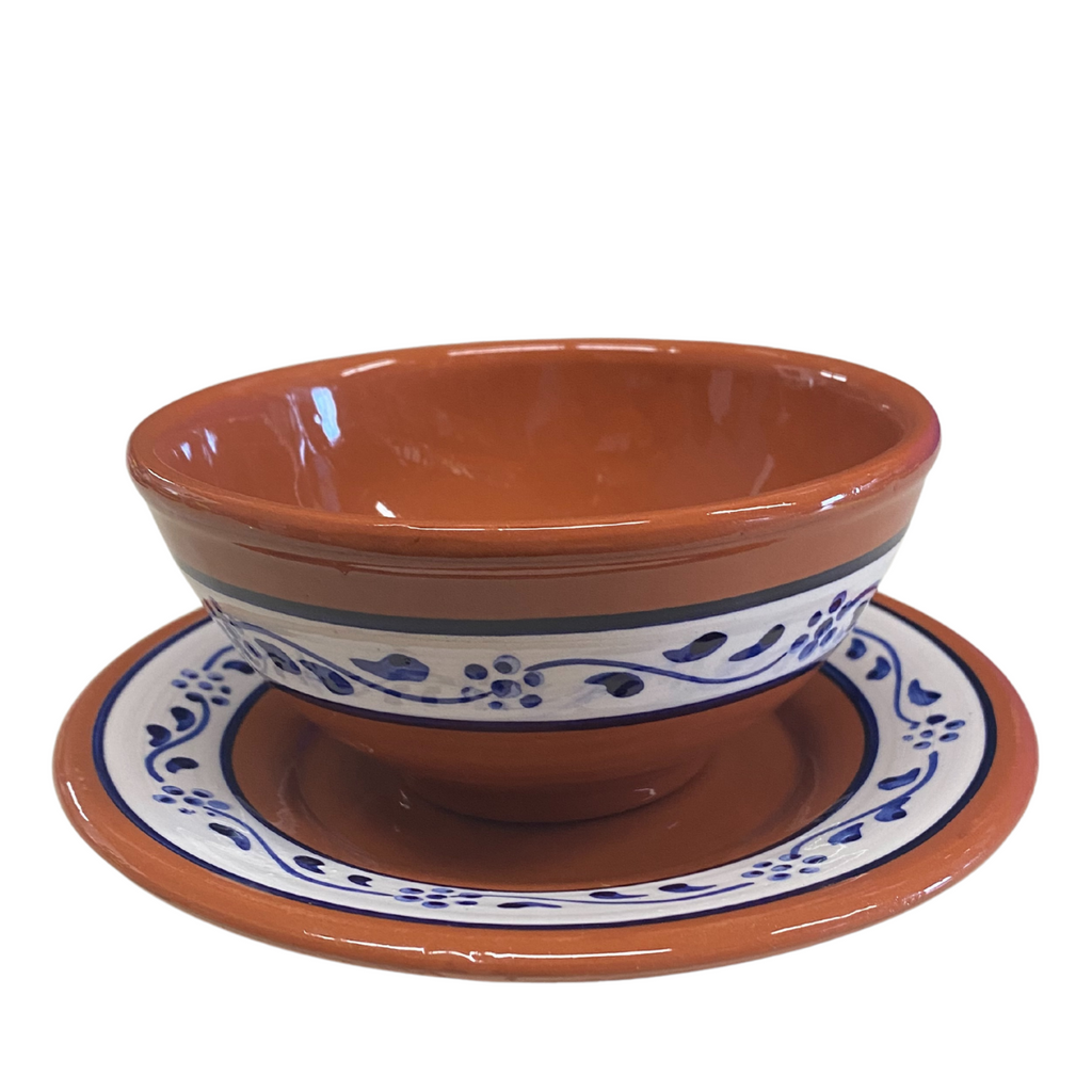 Soup Bowl and Plate Set Azulejo