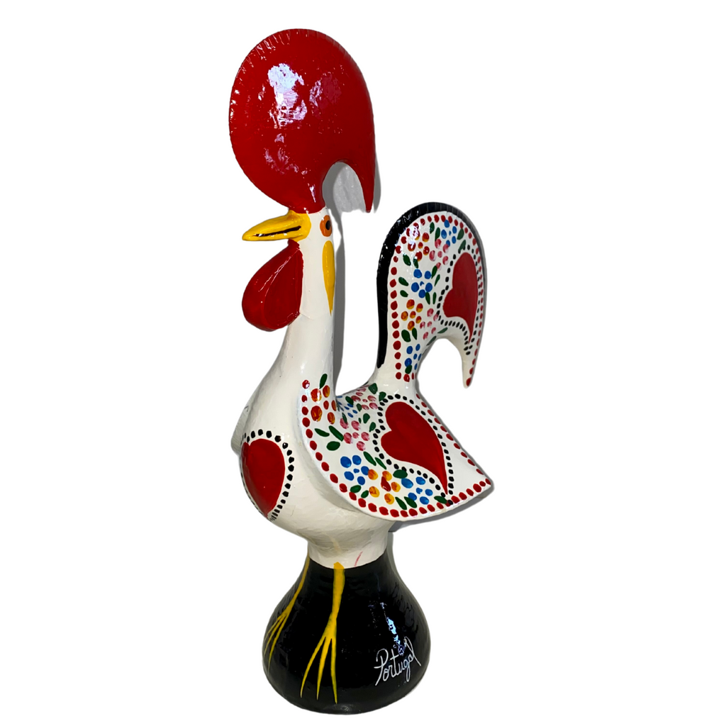 10 inch Galo Barcelos Traditional Hand-Crafted Metal Rooster