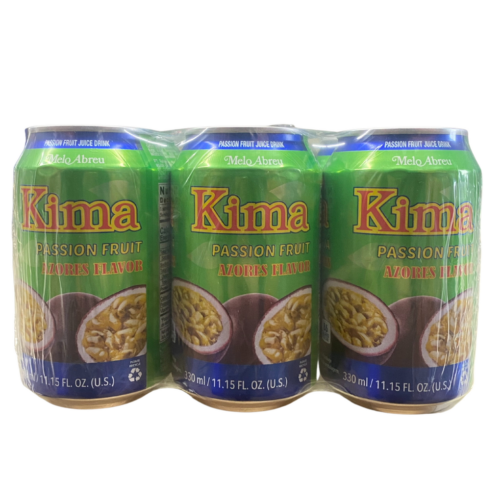 Kima Passion Fruit Cans - 6 Pack