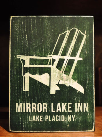 Mirror Lake Inn Wooden Sign