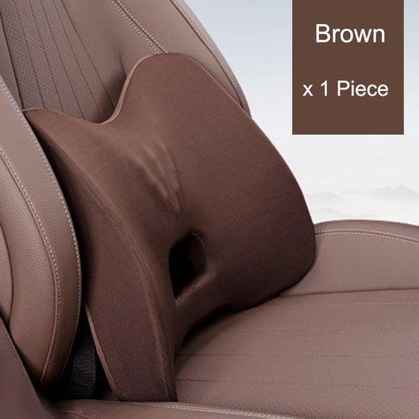 3Pcs Set Car Headrest Seat Back Cushion