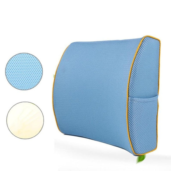 Cotton Mesh Back Support Pillow
