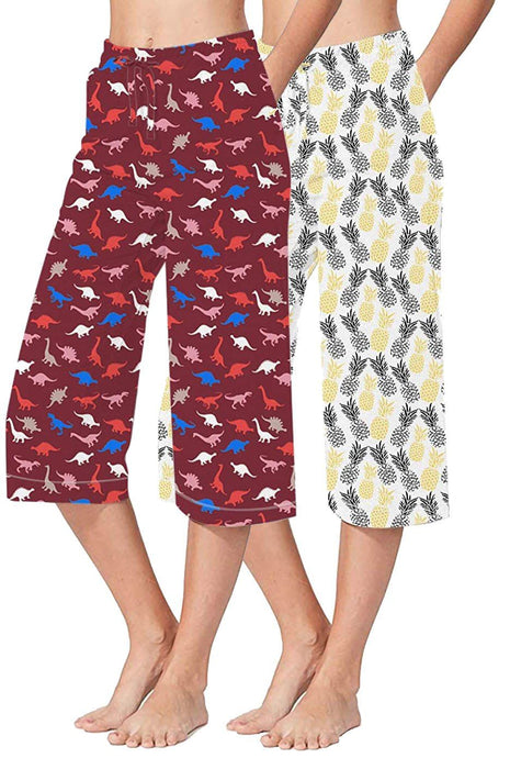 Romano nx 100% Cotton Women Capris Combo (Pack of 2) romanonx.com