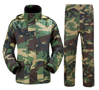 Romano nx 100% Waterproof Camouflage Raincoat Men Heavy Duty Double Layer Hooded with Jacket and Pant in a Storage Bag