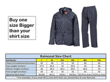 Load image into Gallery viewer, Romano nx 100% Waterproof Heavy Duty Double Layer Hooded Rain Coat Men with Jacket and Pant in a Storage Bag romanonx.com
