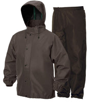 Romano nx 100% Waterproof Heavy Duty Double Layer Hooded Rain Coat Men with Jacket and Pant in a Storage Bag