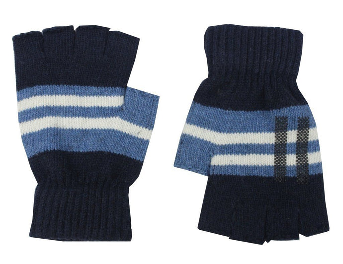 Romano nx Blue Fingerless Warm Winter Wool Gloves Apparel Romano