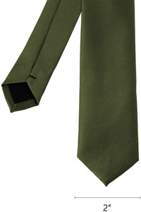 Romano nx Essentials Men's Classic Satin Solid Skinny Necktie Hunter romanonx.com