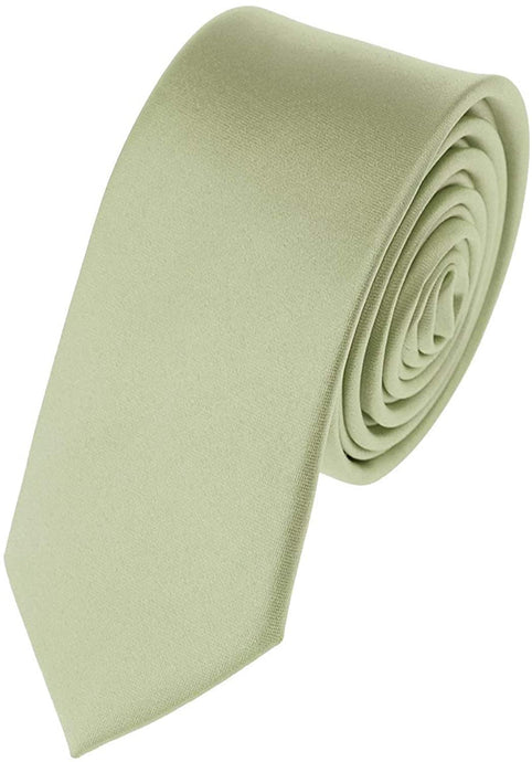 Romano nx Essentials Men's Classic Satin Solid Skinny Necktie Light Sage Green romanonx.com