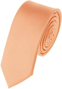 Romano nx Essentials Men's Classic Satin Solid Skinny Necktie Light Salmon romanonx.com