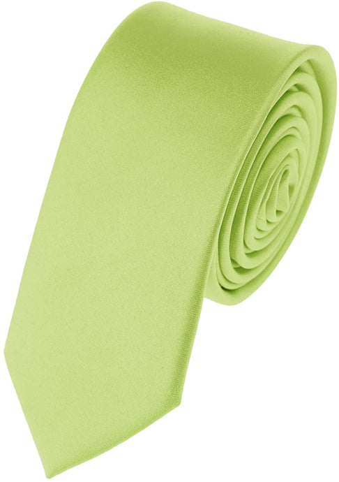 Romano nx Essentials Men's Classic Satin Solid Skinny Necktie Pear Green romanonx.com