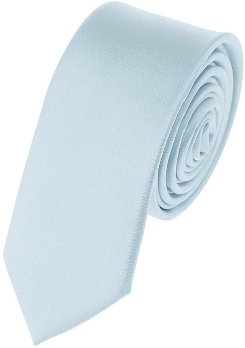 Romano nx Essentials Men's Classic Satin Solid Skinny Necktie Powder Blue romanonx.com