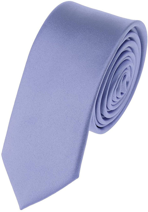 Romano nx Essentials Men's Classic Satin Solid Skinny Necktie Steel Blue romanonx.com