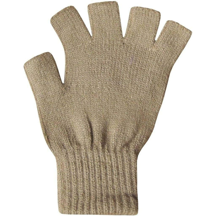 Romano nx Fingerless Woolen Gloves for Women in 6 Colors Apparel Romano Beige
