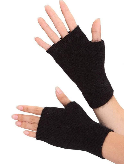 Romano nx Fingerless Woolen Gloves for Women in 9 Colors Apparel Romano Black