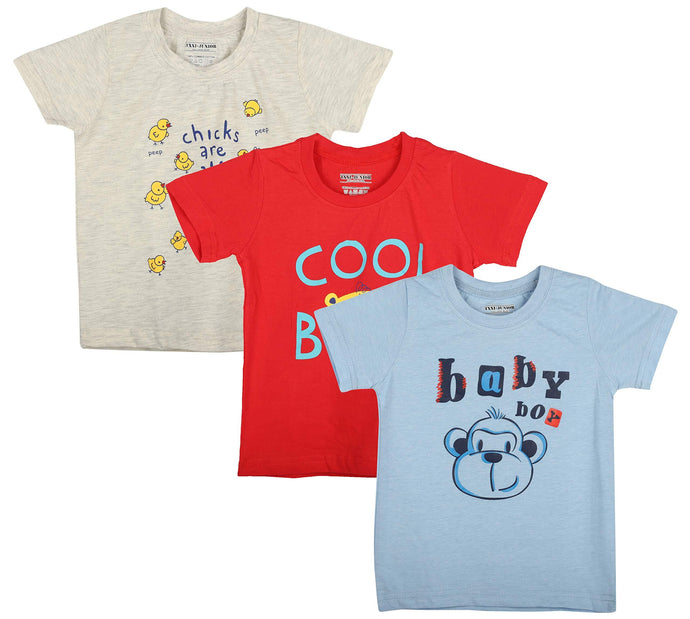 Romano nx Girls' Cotton T-Shirt - Set of 3 romanonx.com 10 Years-11 Years