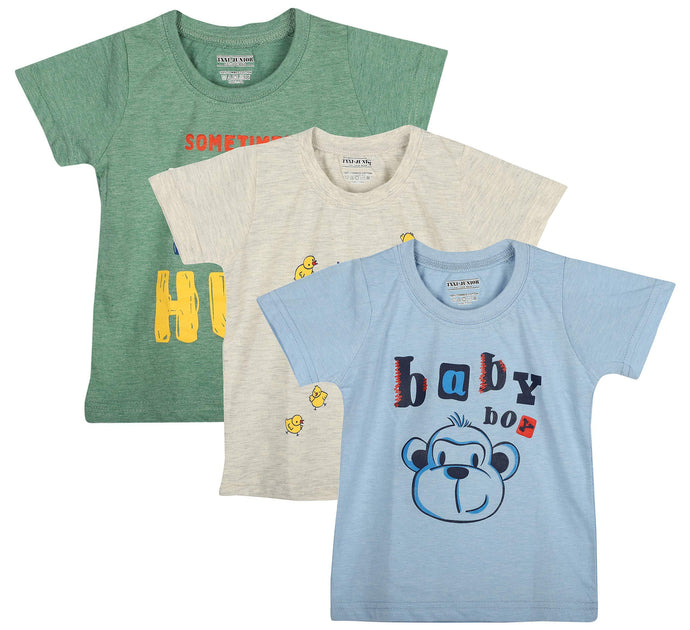 Romano nx Girls' Cotton T-Shirt - Set of 3 romanonx.com 3 Years-4 Years