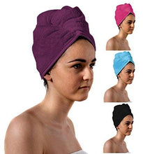 Load image into Gallery viewer, Romano nx Luxury Drying Turban Hair Wrap in 6 Colors romanonx.com