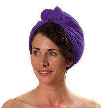 Load image into Gallery viewer, Romano nx Luxury Drying Turban Hair Wrap in 6 Colors romanonx.com Purple