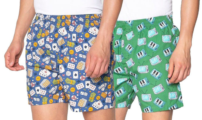 Romano nx Men's 100% Cotton Boxers/Shorts - Combo (Pack of 2) romanonx.com