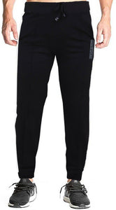 Romano nx Men's 100% Cotton Joggers Trackpants with Two Side Zipper Pockets in 4 Colors romanonx.com Medium Black