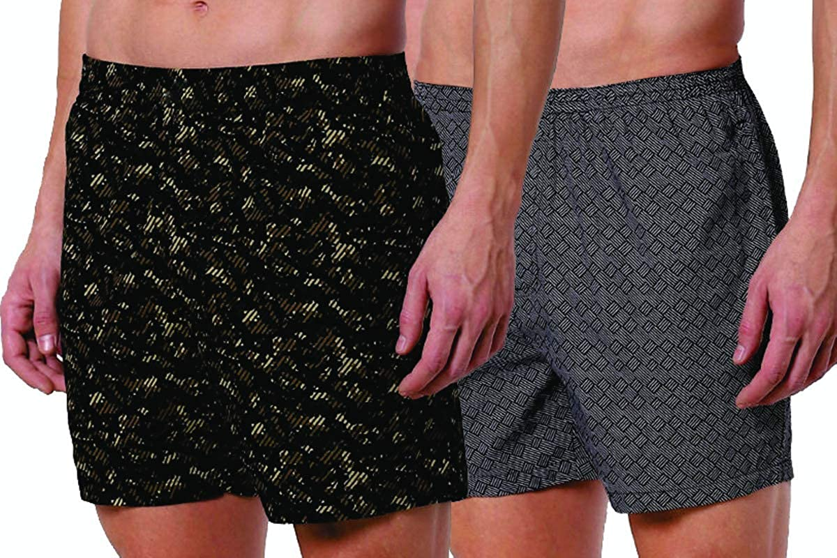 Romano nx Men's 100% Cotton Shorts/Boxers with Side Pockets - Combo (Pack of 2) romanonx.com