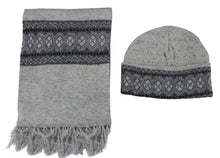Load image into Gallery viewer, Romano nx Men's 100% Wool Winter Cap Muffler Combo in 4 Colors romanonx.com Awesome Grey
