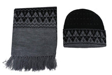 Load image into Gallery viewer, Romano nx Men's 100% Wool Winter Cap Muffler Combo in 4 Colors romanonx.com Solid Black