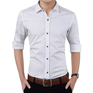 Romano nx Men's Cotton Casual Shirt in 6 Colors romanonx.com Awesome White L