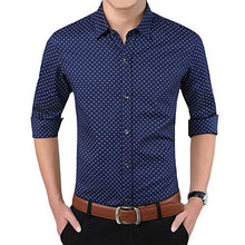 Load image into Gallery viewer, Romano nx Men's Cotton Casual Shirt in 6 Colors romanonx.com Best Blue L